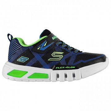 Skechers Flex Glow Boys Light Up Trainers