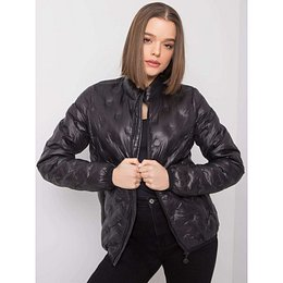 Black transitional jacket without a hood
