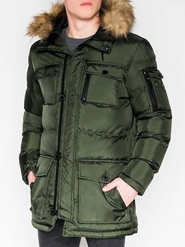 Men's quilted jacket Ombre C355