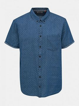 Blend Blue Denim Polka Dot Shirt