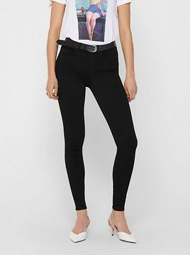 Black Cropped Skinny Fit Jeans ONLY Hush