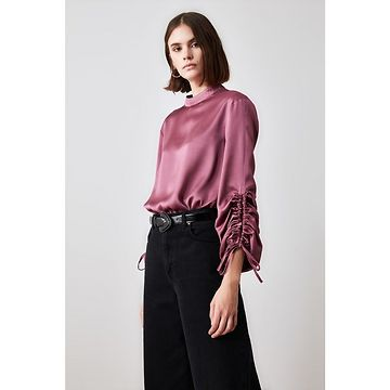 Trendyol Rose Dry Sleeves Fastened Blouse