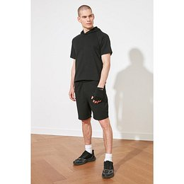 Trendyol Black Men's Regular Fit Shorts & Bermuda