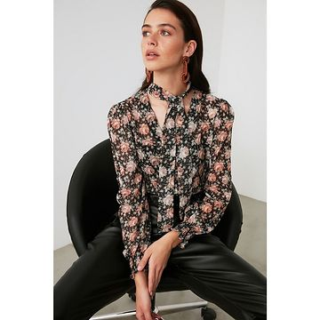 Trendyol Multicolored Tying Detailed Shirt