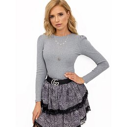 Fitted gray RUE PARIS blouse