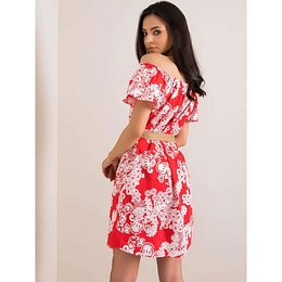 Red Spanish dress with patterns