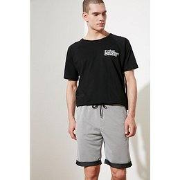 Trendyol Grey Men's Regular Fit Shorts & Bermuda