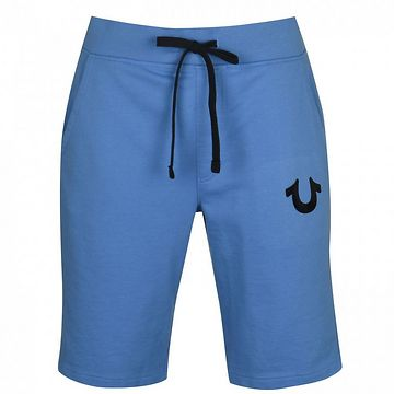 True Religion Blu Logo Shorts