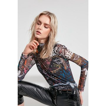 Trendyol Multicolor Patterned Tulle Knitted Blouse