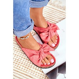 Women's Coral Flip-flops Bows Wendy