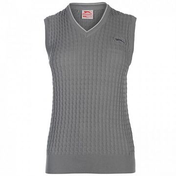 Slazenger Cable Knit Vest Ladies