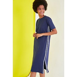 Trendyol Navy Stripe Detailed Knitted Dress