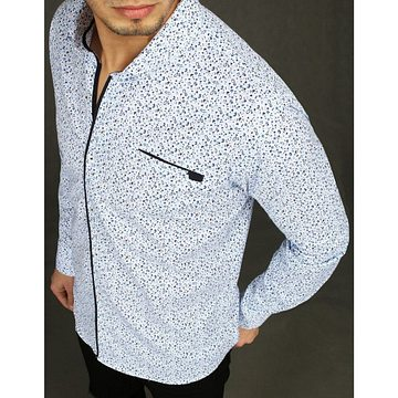 White men's shirt with patterns DX2014