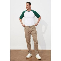 Trendyol Mink Male Cargo Slim Fit Pants