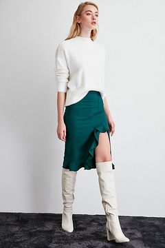 Trendyol Green Frill Detailed Skirt