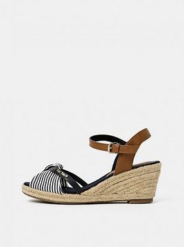 Tom Tailor's Blue Striped Wedge Sandals
