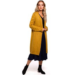 Made Of Emotion Woman's Cardigan M469 Mustard