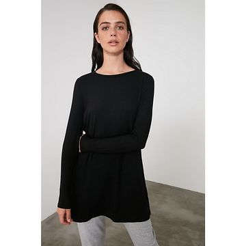 Trendyol Black Bicycle Collar Knitted Dress