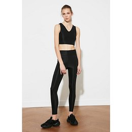 Trendyol Black Knitted Sports Tights