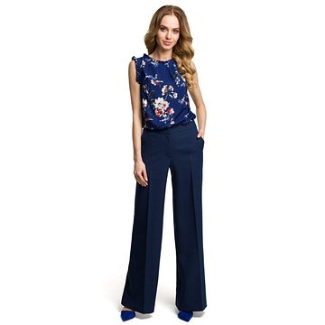 Made Of Emotion Woman's Pants M378 Navy Blue