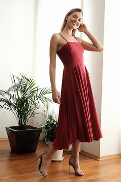 Trendyol Burgundy Strap dress