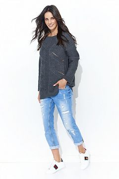 Numinou Woman's Sweater Nus40 Graphite