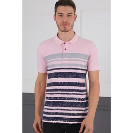 T0453 DEWBERRY DIO RISE MEN'S T-SHIRT-PINK