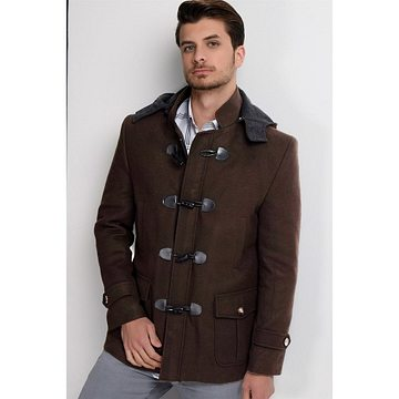 PLT8379 DEWBERRY MEN's COAT-COFFEE