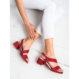 KYLIE RED SANDALS ON THE LOW POST