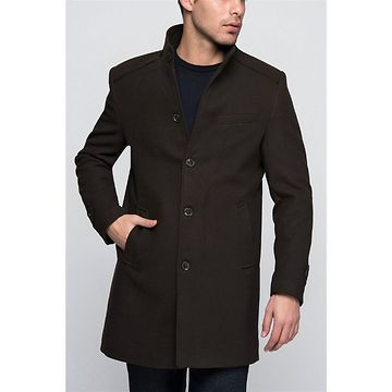 PLT8333 DEWBERRY MEN's COAT-COFFEE