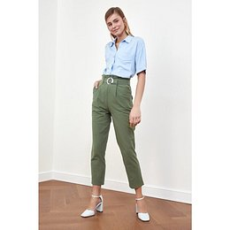 Trendyol Haki Belt Pants
