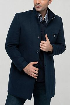 PLT8350 DEWBERRY MEN's COAT-LACİVERT