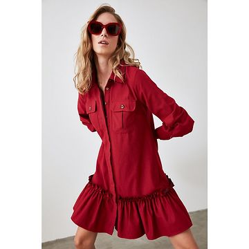 Trendyol Mydy Flywheel Shirt Dress