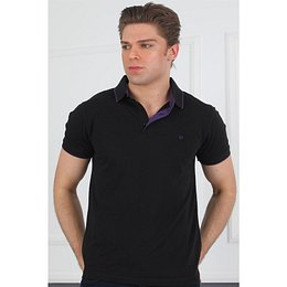 T8572 DEWBERRY MEN'S T-SHIRT-BLACK