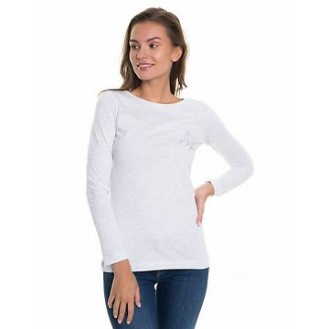 Big Star Woman's Longsleeve T-shirt 158667 Light -925