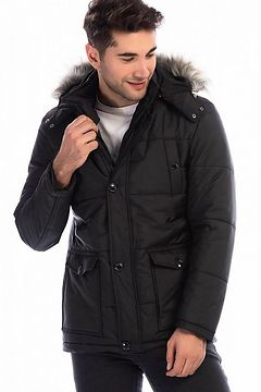 M8635 DEWBERRY MEN's COAT-BLACK