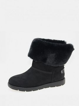 Black women's winter boots in suede by Tom Tailor
