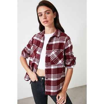 Trendyol Red Double Pocket Shirt