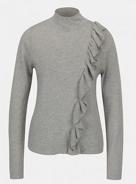 Grey Annealed T-Shirt with Broadway Olevia Frills