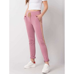 Dusty pink pants with stripes