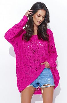 Numinou Woman's Sweater Nus31 Amaranth