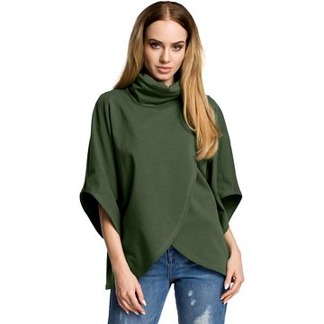 Made Of Emotion Woman's Sweatshirt M372 Military