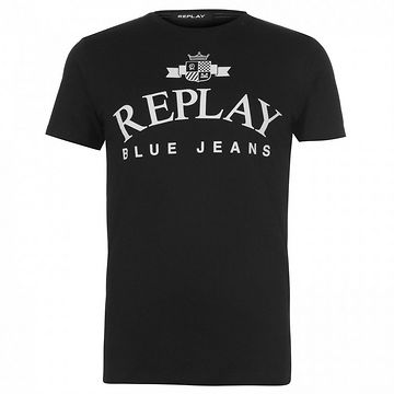 Replay Jeans Logo T Shirt