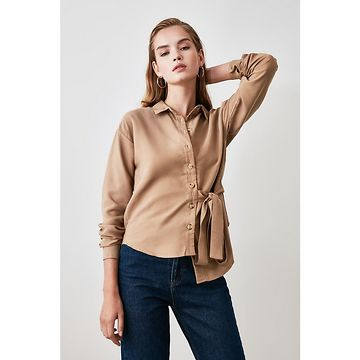 Trendyol Mink Binding Detailed Shirt