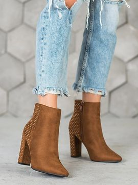 SEASTAR SUEDE ANKLE BOOTS WITH ZIRCONIAMI