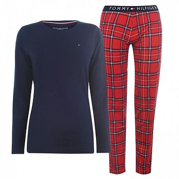 Tommy Bodywear Jersey Check Pyjama Set