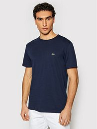 Lacoste T-Shirt TH6709 Tmavomodrá Regular Fit