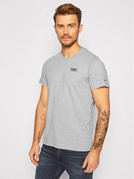 Tommy Jeans T-Shirt Corp Logo C Neck DM0DM09588 Šedá Regular Fit