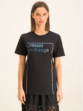 Armani Exchange T-Shirt 6GYTBE YJ73Z 1200 Černá Regular Fit