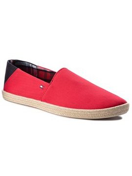 Tommy Hilfiger Espadrilky Easy Summer Slip On FM0FM00569 Červená